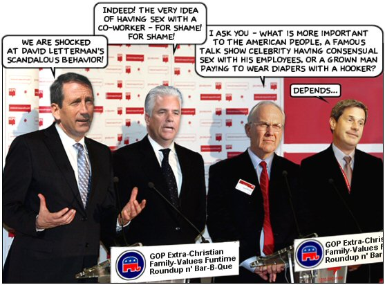 GOP Extra-Christian Family-Values Funtime Roundup n' Bar-B-Que