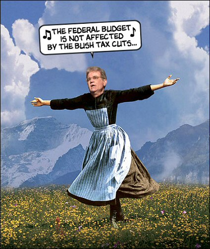 the federal budget is not affected by the bush tax cuts...